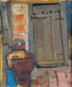 JOAN EARDLEY, RSA 1921-1963 THE WASH HOUSE (RECTO), FRENCH ROOFTOPS (VERSO) Social Realism, Sketchbook Project, Glasgow School Of Art, Popular Artists, Women In History, Painting Inspiration, Abstract Art, Arts And Crafts, Creative