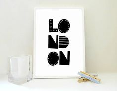 London No1 Printable Print, London Art Print, Typography Print, Travel Print, Travel Gift, Boy Room Decor, Girl Room Art, Kids Art, PDF JPG London with a #scandinavian twist! A #printableprint with your favorite city for your #nursery, #playroom or #kidsroom!  #printables #londonposter #typography #artprint #travelprint #travelgift #BoyRoomDecor #GirlRoomWallArt #etsy http://etsy.me/2ogTwQp  via @Etsyuk