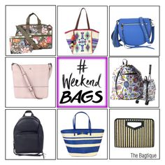 """#WeekendBags"" by thebagtique on Polyvore featuring Rebecca Minkoff, Marc by Marc Jacobs, Kate Spade, Sydney Love and LeSportsac"