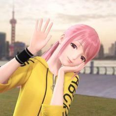 Anime Girl Pink, Anime Girl Dress, Pretty Anime Girl, Beautiful Anime Girl, Anime Art Girl, Super Hero Life, Cute Panda Wallpaper, Nikki Love, Guitar Girl