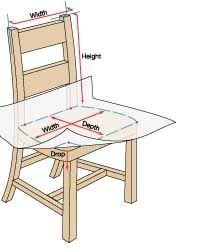 Tutorial que muestra cómo hacer una cubierta para una silla.