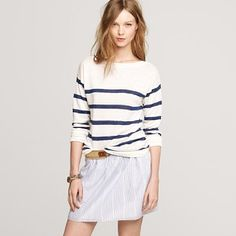 stripe boatneck sweater; j crew. i can't help it, and they're making it so easy this season!