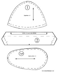 Zapatitos de tela para bebé + moldes - Imagui