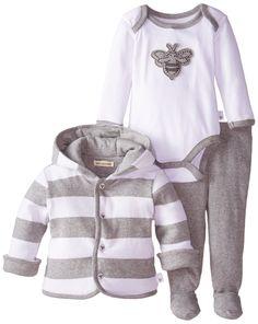 Amazon.com: Burt's Bees Baby Unisex-Baby Newborn Organic Applique Bee Bodysuit Footed Pant: Clothing