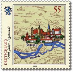 "German Deutsche Post ""Jahre Ingolstadt"" village stamp"