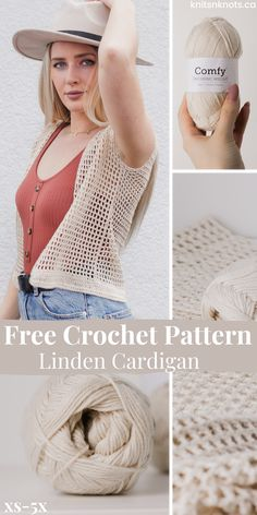 This beginner-friendly cardigan is worked up very quickly in a very simple double crochet mesh stitch pattern! The pattern includes instructions for sizes XS through 5X with a PDF version available! Crochet Cardigan Pattern, Crochet Blouse, Easy Crochet Shrug, Modern Crochet Patterns, Crochet Patterns Free Women, Crochet Summer Tops, Crochet Tops, Crochet Clothes, Crochet Sweaters