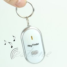 1 stücke Weiß LED Locator Finden Verlorenen Whistle Sound Control Haar clow Für Key Finder