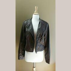 Jacket Brown faux leather jacket Never been worn Xhilaration Jackets & Coats
