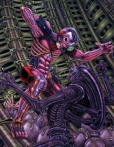 Iron Maiden sends Eddie to tackle the Alien Xenomorph. Heavy Metal Bands, Heavy Metal Rock, Bruce Dickinson, Hard Rock, Iron Maiden Mascot, Vic Rattlehead, Iron Maiden Posters, Iron Maiden Albums, Eddie The Head