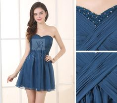 Buy discount Exquisite Silk Like Chiffon & Stretch Satin Sweetheart Neckline A-Line Cocktail Dresses at dressilyme.com