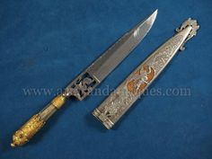 Exhibition Quality 19th C. Argentinian or Uruguayan Gaucho Knife with chiseled steel