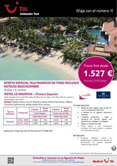 Oferta Isla Mauricio estancia hotel Le Mauricia. Precio final desde 1.527€ - http://zocotours.com/oferta-isla-mauricio-estancia-hotel-le-mauricia-precio-final-desde-1-527e/