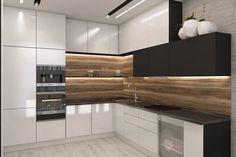 51 Modern Kitchen Interior Design That You Have to Try - Kitchen Decor - Kitchen Room Design, Kitchen Cabinet Design, Modern Kitchen Design, Kitchen Layout, Home Decor Kitchen, Interior Design Kitchen, Diy Kitchen, Rustic Kitchen, Kitchen Ideas