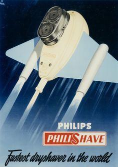 Philips Philishave #advert from 1951 | #vintage #retro