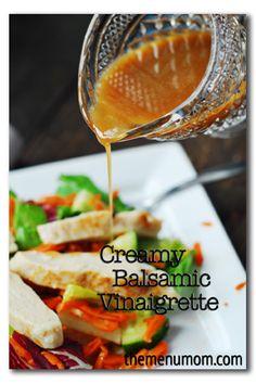 Creamy Balsamic Vinaigrette - www.TheMenuMom.com