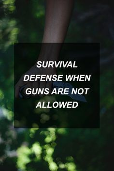 Survival Defense When Guns Are Not Allowed | Survival Shelf | Survivalist & Prepper Links