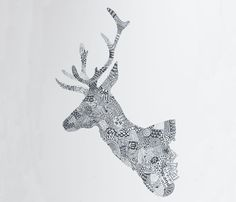 {pattern stag head} by Orwell and Goode
