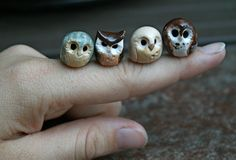 Harry Potter Owls Brown Pygmy Clay Owl by calicoowls on Etsy
