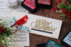 Make Backgrounds to Cut with Dies - Easy Coloring! + Exclusive Tim Holtz Die!   Nina-Marie Design