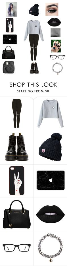 """""""Untitled #266"""" by lexytoste ❤ liked on Polyvore featuring The Ragged Priest, Chicnova Fashion, Dr. Martens, Superdry, Monki, MICHAEL Michael Kors, Lime Crime, Ray-Ban, Accessorize and Fujifilm"""