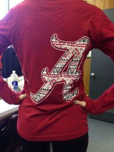 Alabama long sleeve V neck Aztec shirt  $21.99