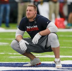 J.J. Watt #99 of the Houston Texans warms up before playing the Chicago Bears at NRG Stadium on Sept. 11, 2016 in Houston.