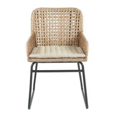 Prepare for guests to stay awhile. With its low contoured arms and generous seat, our Bailey Woven Chair is all about cool comfort. Hand woven in an airy box weave of all-weather wicker with sled-style iron frame.Bailey Woven Chair features:Washed gray resin wickerSuitable for outdoor useMicro-tufted khaki cushionPowder-coated frame for durabilitySimple assembly (top to base)