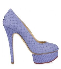 Charlotte Olympia Priscilla Snake Pumps Love the Lilac!