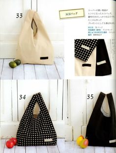 Japanese Craft Book Handmade Cloth Bags por ThisandThatFromJapan