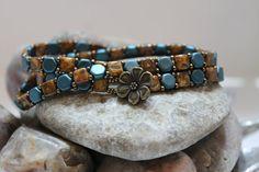 Trendy Czechmate Tile and Honeycomb Multi Wrap Bracelet; Stack Bracelet; Bead Weaving; Czech Bead Bracelet; Wrap Bracelet RC139