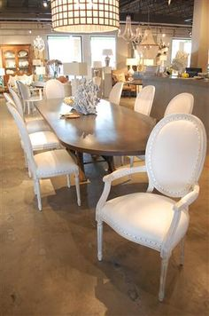 Louis XVI Style Oval Back #dining Chairs Vieux Interiors #houston