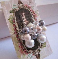 Pearl Cluster Earrings Bridesmaid Jewelry Pearl by SLDesignsHBJ