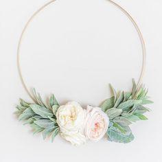 Blush Nursery, Floral Nursery, Girl Nursery, Nursery Decor, Baby Decor, Floral Hoops, Thing 1, Creation Couture, Baby Girl Gifts