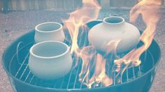 If you or a friend are trying out pottery as a hobby but are dismayed at the cost of an electric kiln you can utilize a standard charcoal grill as a basic pit fire kiln—the results won't be quite as professional and you'll have smoke marks on the finished product but it will sufficiently harden the clay.