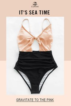 Hello, Beautiful~ It's already sea time, before hitting the beach, don't forget to take a great one-piece swimsuit with you. Soft pink top, cute bow and cutout design, meet all your needs for a summer beach look. That's Really A Flattering One! Can't miss.