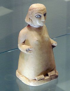 Female Figure, South Arabian, alabaster, 8 1/2 inches high, early 3rd Century…