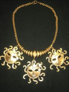 Joseff Hollywood Sun God Necklace...One of my favorites!