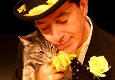 Stephen Colbert and a Kitty.