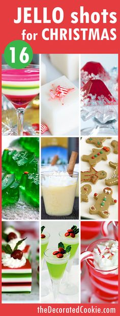 16 Jello shots for Christmas - holiday jelly shots