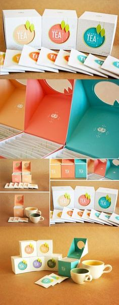 Packaging design take a lot of effort and creative input from graphic and brand designers.have a look at 23 clever packaging designs you cannot miss. Tea Packaging, Beverage Packaging, Pretty Packaging, Brand Packaging, Design Packaging, Tee Design, Label Design, Graphic Design, Package Design