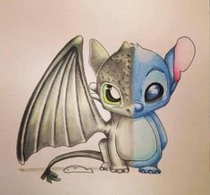 Toothless and stitch combined! Quinn, we are united as friends! I live you . Toothless and stitch combined! Quinn, we are united as friends! I live you toothless and you love s Cute Disney Drawings, Cute Animal Drawings, Kawaii Drawings, Cool Drawings, Drawing Sketches, Cute Animals To Draw, Drawing Ideas, Adorable Drawings, Funny Sketches