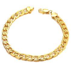 New Trendy Bracelets For Man Male Chunky Link Chain Lobster Bracelets & Bangles Never Fade KS407