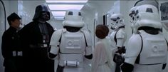 Darth Vader and Princess Leia Star Wars 1977 Where are the plans for the Death Star? The film's beginning has a parallel with Casablanca, which begins for the search of stolen passports in very similar circumstances.