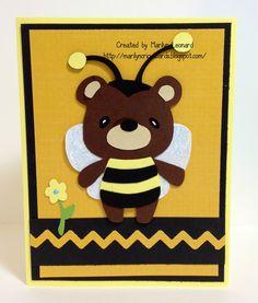 teddy bear parade cricut cards | Marilyn's Cricut Cards ~: Teddy Bear Parade - Bee