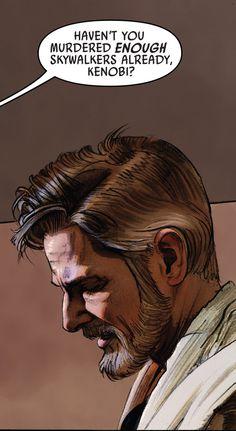 Owen Lars confronts Obi-Wan Kenobi.