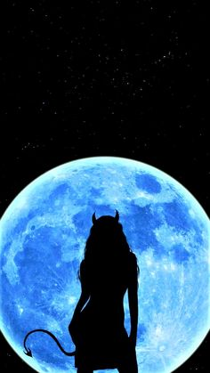 Moon Devil Girl iPhone and android Wallpaper - iPhone and Android phone  Wallpapers on Artzone #MMG.