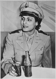 """WWII -- original caption: """"Willa Beatrice Brown, a 31-year-old Negro American, serves her country by training pilots for the U.S. Army Air Forces. She is the first Negro woman to receive a commission as a Lieutenant in the U.S. Civil Air Patrol."""""""