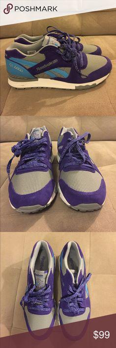 ca09e6454e01ce Men s Reebok Classics GL6000 NWOT Reebok Sneakers GL 6000 purple blue and  gray. Never worn