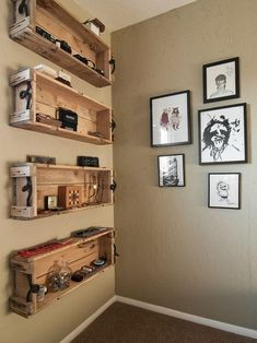 shelves toilet car tuning repurposed wooden crate ideas crate shelves and garden crates Repurposed Wooden Crates, Old Crates, Recycled Pallets, Wooden Pallets, Wine Crates, Pallet Wood, Pallet Boxes, 1001 Pallets, Palette Diy