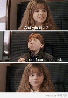 Ron and Hermione. Haha.